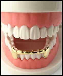 Ausdauernd Neu! Eigener 14k Gold Vergoldete Zähne Mund Grillz Unten Halb Niedriger Stangen Angenehme SüßE