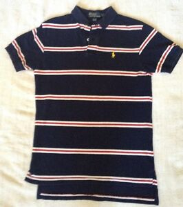 White Navy S Ralph About Details Men's Size Red Shirt Stripe Lauren Blue Polo oEQxCWerdB