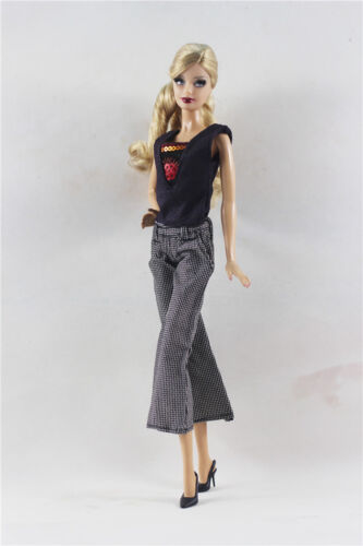 Pants FOR 11.5in.Doll Clothes 2in1 Set Fashion Outfit T-shirt Vest Top