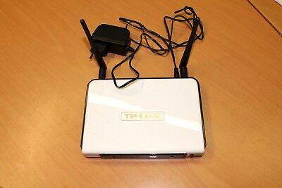 1 X Tp-link Gigabit Wireless N Router Tl-wr1042nd Bianco Usato Buone Condizioni-