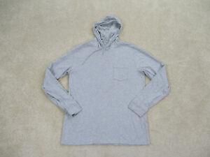 Vineyard Vines Shirt Adult Medium Gray Hoodie Long Sleeve Pocket Tee Mens *