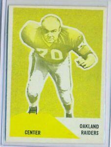 1960 Fleer 83 Bob Nelson Oakland Raiders Yellow Proof Ex Ebay