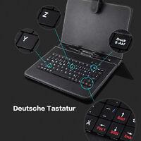 Tasche Hülle für 7 Zoll Tablet PC TAB Micro USB PU Leder Tastatur DEUTSCH QWERTZ