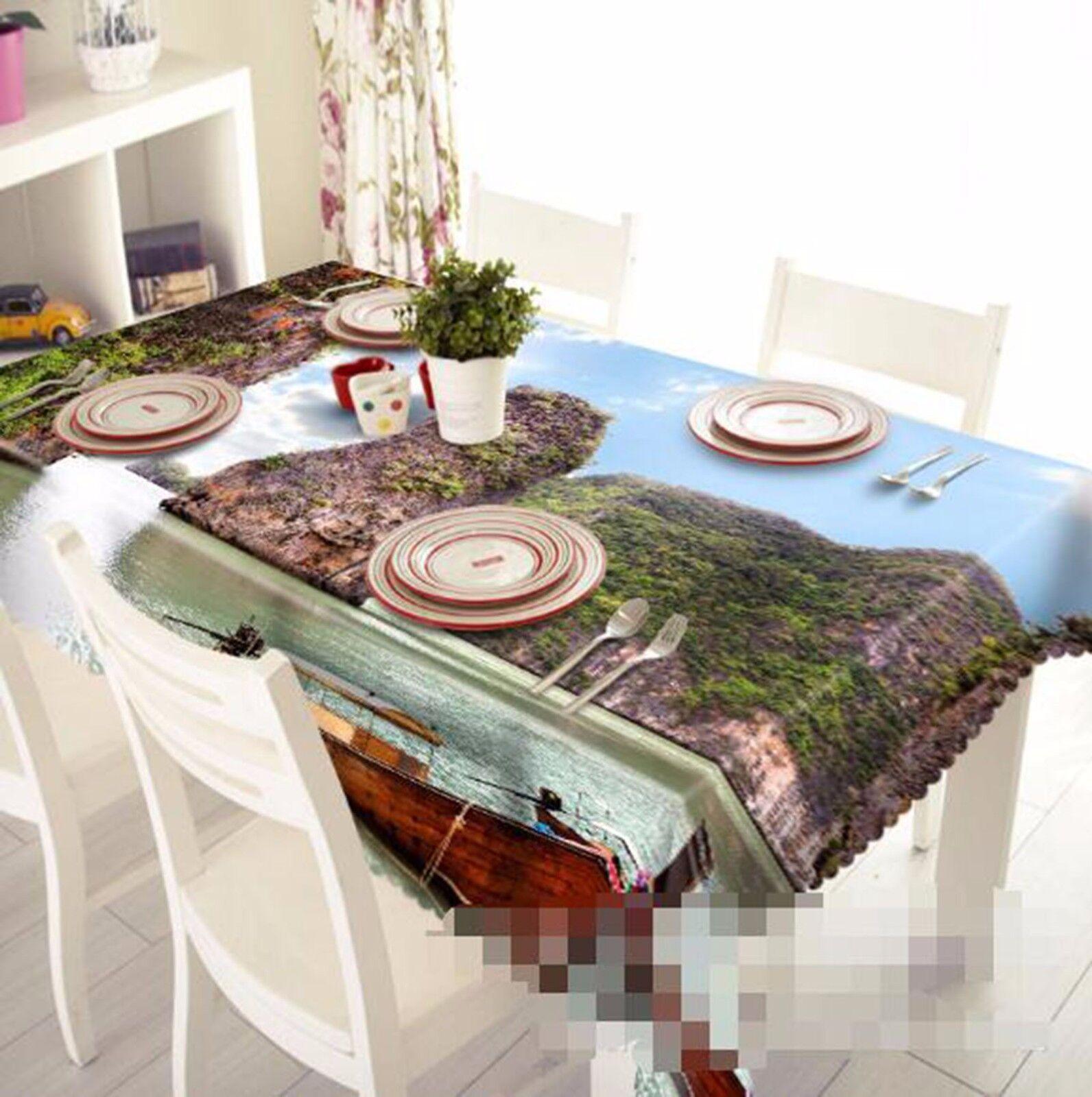 Flux 3D 49 Nappe Table Cover Cloth fête d'anniversaire AJ papier peint Royaume-Uni Citron