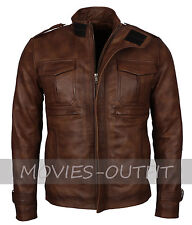 Mens Vintage Brown Casual Wear Classic Lamb Skin Nappa Leather Jacket
