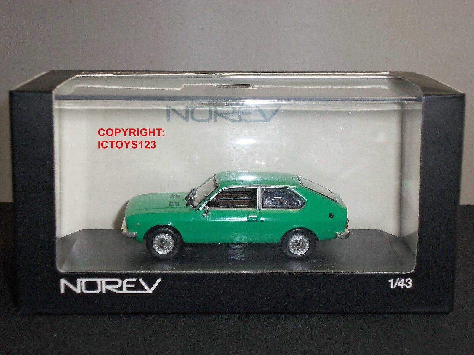 NOREV 740085 SEAT 128 GREEN DIECAST MODEL CAR