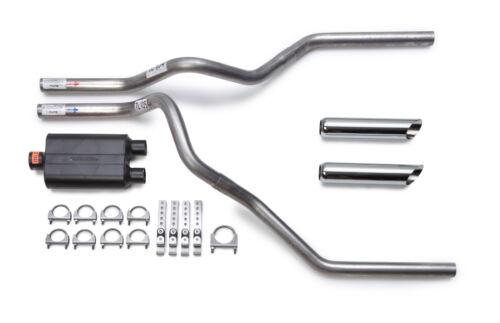1988-1995 Chevy Silverado Dual Exhaust Kit Flowmaster 40 Muffler Chrome Tips