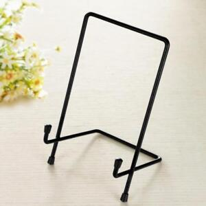 Metal-Iron-Display-Easel-Stand-Plate-Bowl-Picture-Frame-Photo-Frame-Holder-S