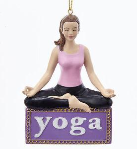 kurt adler 3 75 resin yoga girl perfect pose meditation posture
