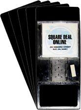 "(300) CDNS14BK40 Tall Black CD Long Divider Cards Heavy Duty 6""x14.25"" 40 Mil"