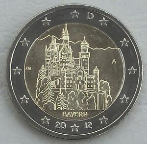 2 Euro Deutschland A 2012 Neuschwanstein Bayern Unz Ebay