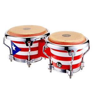 latin percussion lp mini bongo puerto rico flag ebay. Black Bedroom Furniture Sets. Home Design Ideas