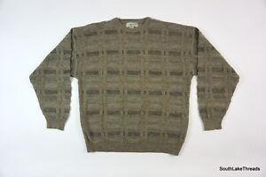 Vintage-90s-Herren-San-Mateo-Island-Pullover-Geometrische-Drucken-Bill-Cosby-sz-XL