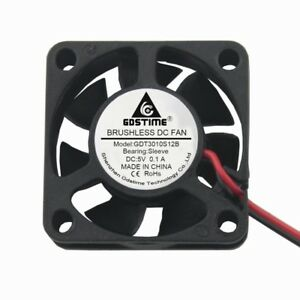5V mini 3cm 30mm 30x30x10mm 2pin pont brushless cooling cooler fan 3010s JV!