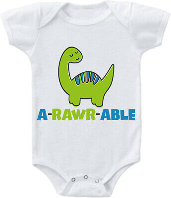 Kids Baby Grow Suit A Rawr Able cute adorable dinosaur diplodocus