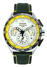 PNP OS PU2013X1 Pulsar WRC Men Chronograph Date Display Leather Strap Watch