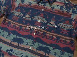 Polo-Ralph-Lauren-Southwestern-Indian-Tribal-Aztec-Western-Cowboy-Rodeo-Shirt