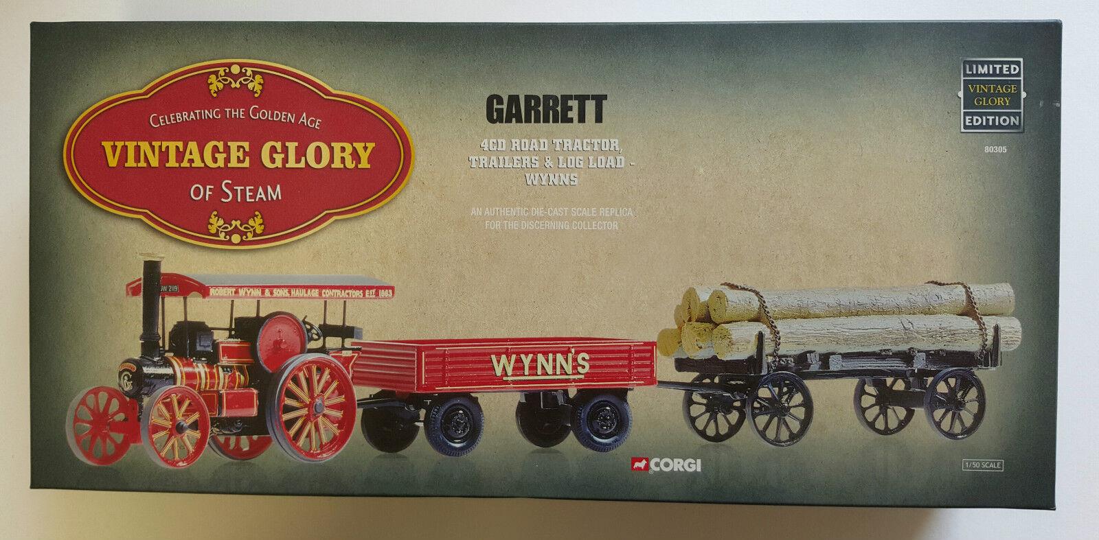 Corgi Vintage Glory Garrett 4CD Road Tractor, Trailers & Log Load Wynns 80305