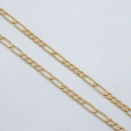 """24/"""" 4MM 24K EP 4x2 FIGARO CHAIN NECKLACE MUST SEE"""