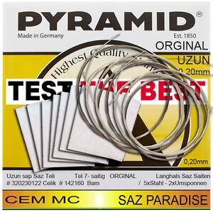 L' Original Cem Mc Pyramid Uzun Baglama Spg Teli 1 Pack (7 Cordes) Spg Kursu Mannheim-afficher Le Titre D'origine