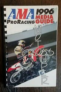 AMA Pro Racing 1996 Motocross Supercross Media Guide Jeremy McGrath Jeff Emig