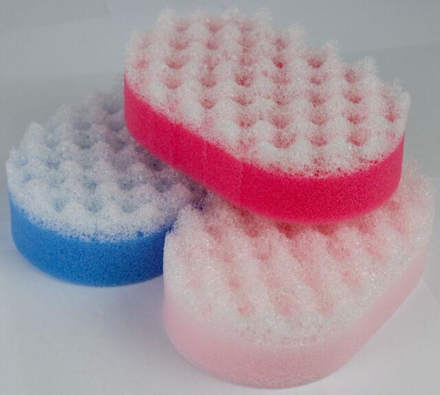 Premium Exfoliating Body Scrub Sponge 3 Pack - Bath & Shower Massage Spa Sponges