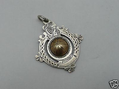 pendentif argent massif ancien Irish pendant medal sterling silver gilt awards?
