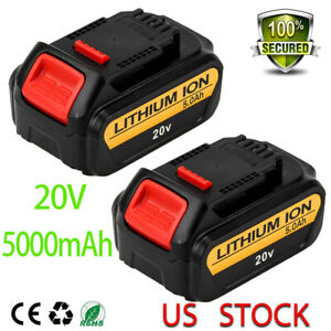 20v-5-0Ah-For-Dewalt-DCB205-Replacement-MAX-XR-Lithium-Ion-Battery-DCB203-2-pack