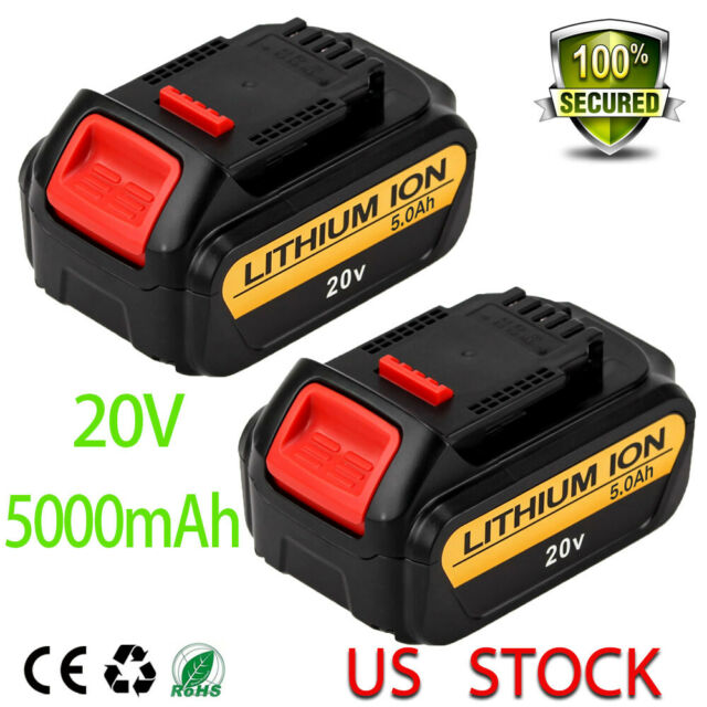 20v 5.0Ah For Dewalt DCB205 Replacement MAX XR Lithium Ion Battery DCB203 2 pack