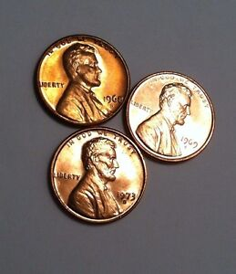 1968 1968-D and 1968-S CH BU Lincoln Cents in Original Mint Cello Packs   DUTCH