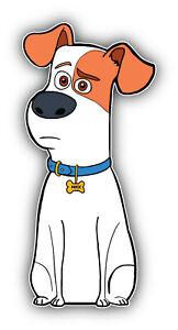 """/""""Tamanhos/"""" A Vida Secreta De Animais De Estimação Cartoon Buddy Adesivo Decalque Para-choques"""