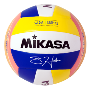 Mikasa Sara Hughes Beach à thème Signature VOLLEY-BALL, bleu/jaune/blanc officiel