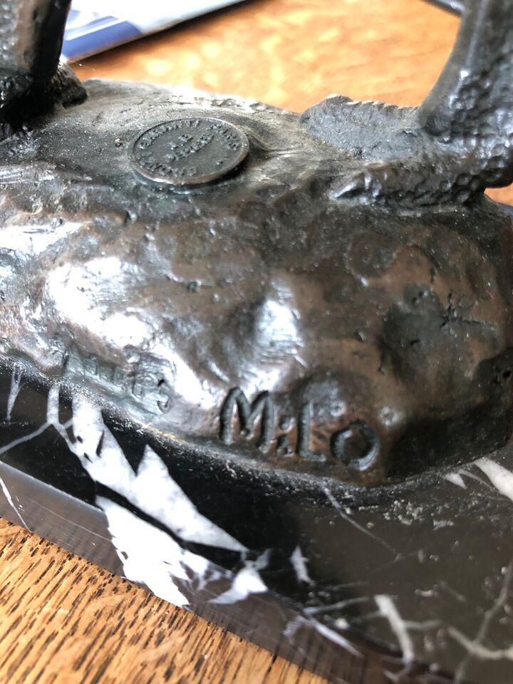 Bronzefigur, Milo, motiv: EMU