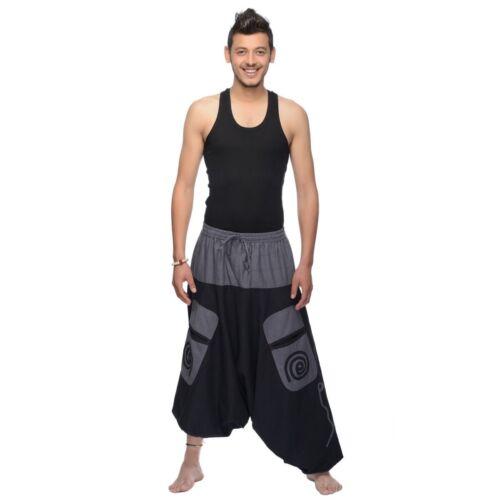 Aladin Pantaloni Casual Pantaloni Harem Cotone Simandra Tempo Libero Pantaloni da uomo