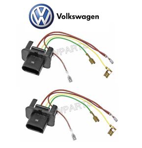 Vw Beetle 98 05 Set Of 2 Headlight Wiring Harness 1c Genuine Ebay