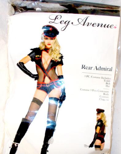 Leg Avenue Black Red Gold Rear Admiral Costume Teddy S M L NIP