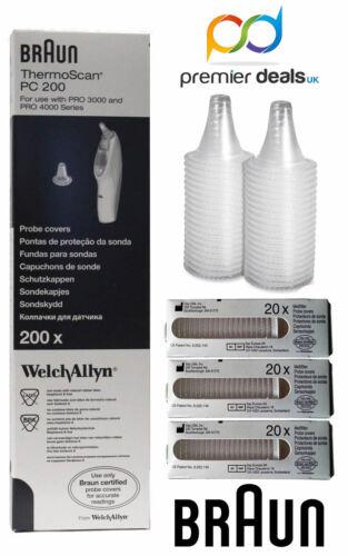 100 PC Oído Braun genuino reemplazo de lente de sonda cubre Thermoscan Welch Allyn