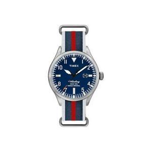 Orologio-Uomo-TIMEX-The-WATERBURY-TW2U00400LG-Tessuto-Blu-Classico