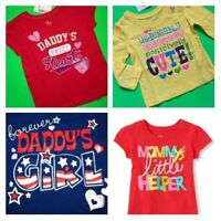Dad Mom Helper Cute Girls Graphic Shirts 6-9 12 18 24 Months 2t 3t 4t Gift