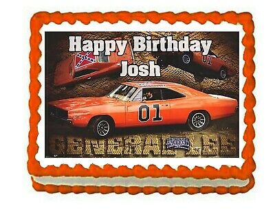 Amazing Dukes Of Hazzard Edible Party Cake Topper Frosting Icing Sheet Personalised Birthday Cards Arneslily Jamesorg