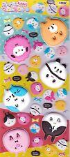 Animal lindo Kawaii japonés Puffy Mochimochi Pegatinas Diario Planner Artesanía Japón