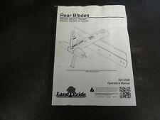 Landpride Rb1660 Rb1672 Rb1684 Rb2672 Rear Blades Operators Manual