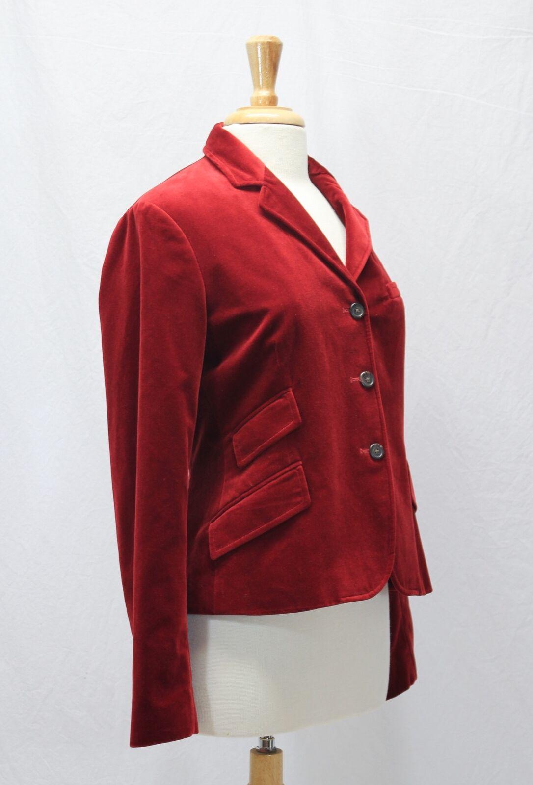 Ralph Lauren Red Velvet Blazer Jacket Size 10 - image 5