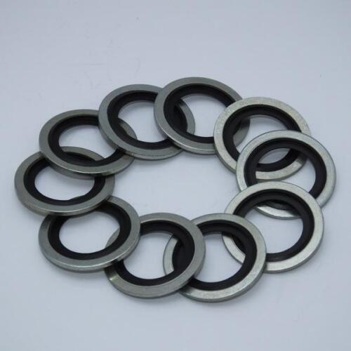 10-pack 18mm R//M - M18 Dowty Bonded Replacement washer gasket fits PSR0401