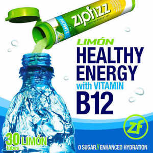 Details about ZipFizz All Natural Energy Drink Mix LIMON (30 Tubes) * FREE  SHIPPING *