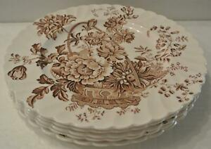 5-Royal-Staffordshire-Charlotte-Brown-10-034-Dinner-Plates-Clarice-Cliff-England