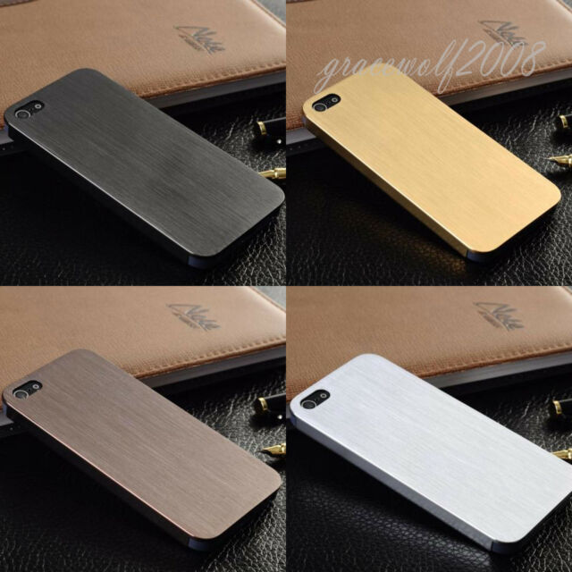Ultra Thin Brush Metal Aluminum Shell Back Skin Case Cover For iPhone4 4S 5 5S
