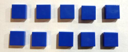 10 x LEGO® 3070 System,Fliese in 1x1  Farbe blau Neuware.