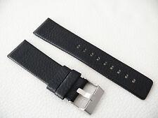 Herren Uhrenarmband Echtleder 24 / 22 mm Schwarz für DIESEL Uhren DZ 1514 7256