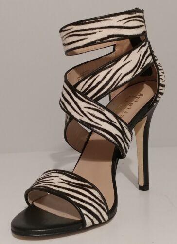 5 noires Crawford cuir Leather 4 Black de Sandales Miller Nicole 5 Talons Miller Sandals en 4 Nicole Nouveau Crawford Xqvg1wwx